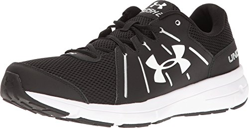 Under Armour Mens Dash RN 2 Trail Sneaker, Black/White, 10 D(M) US