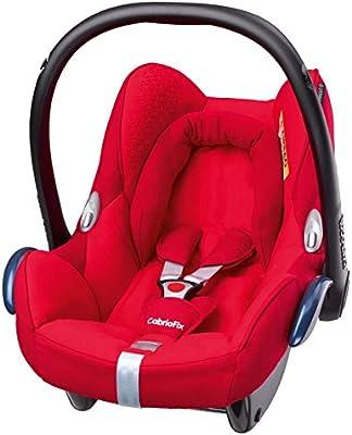 Maxi-Cosi CabrioFix silla de auto reclinable y de alta seguridad para tu bebe, 0-12 meses, 0-13 kg, color rojo (origami red)