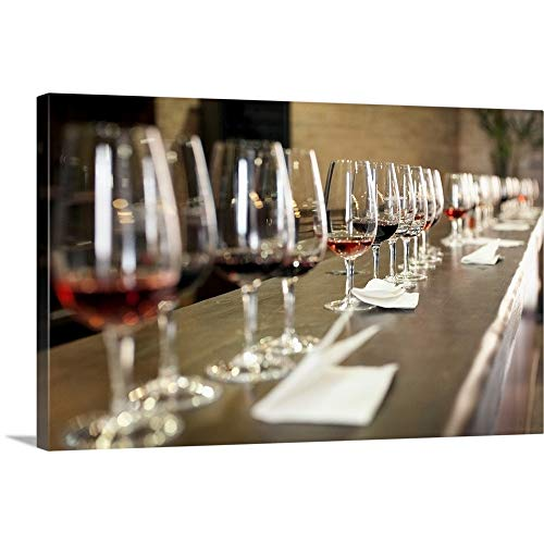 (GREATBIGCANVAS Gallery-Wrapped Canvas Entitled Red Wine Tasting at a Winery by 72