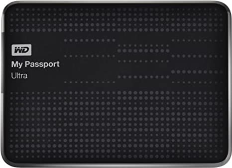 Disque dur externe sans SSD WESTERN DIGITAL MY PASSPORT ULTRA WDBZFP0010BBK NOIR 1TO