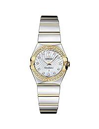 OMEGA WOMEN'S CONSTELLATION DIAMOND 24MM QUARTZ WATCH 123.25.24.60.55.008