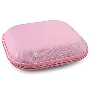 SONY MDR-ZX100, ZX300, ZX310, XB200, ZX102DPV, Sennheiser HD219, HD229, HD239, HD218 Headphones Full Size Hard Carrying Case / Travel Bag with Space for Cable, AMP, Parts and Accessories (Pink)