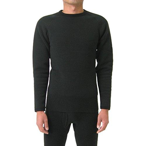 もちはだ もちジョイ 丸首長袖シャツ 超極厚地 男性用 LLサイズ ブラックの商品画像