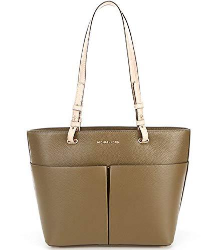 - Michael Kors Bedford Pebble Leather Pocket Tote (Olive)