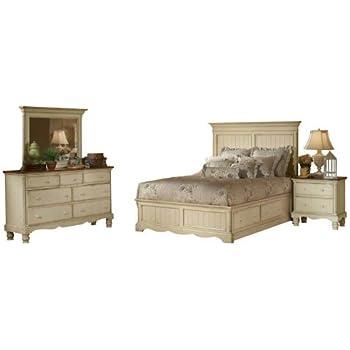 Hillsdale Wilshire 4 Piece Bedroom Set In Antique White   Queen