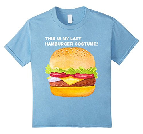 Kids This Is My Lazy Hamburger Costume T-Shirt 10 Baby Blue
