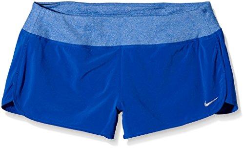 "Nike Women's Running Dri-Fit 4"" Woven Rival Shorts, Blue, Inner Mesh Panty (X-LARGE)"