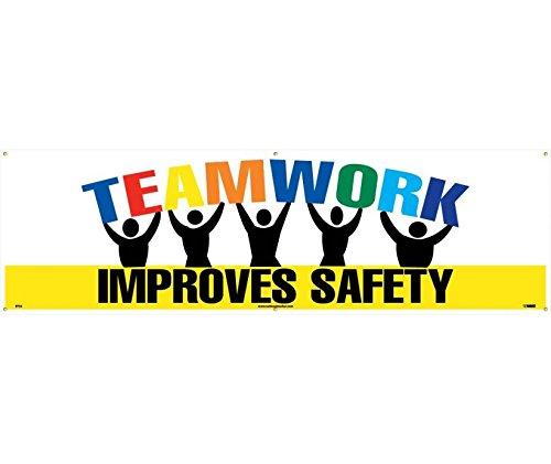 National Marker BT32 Teamwork Improves Safety Banner