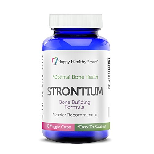 (#1 Strontium Bone Healthy Supplement Recommended By Doctors Worldwide 90, Easy To Swallow Veggie Caps Made In The USA)