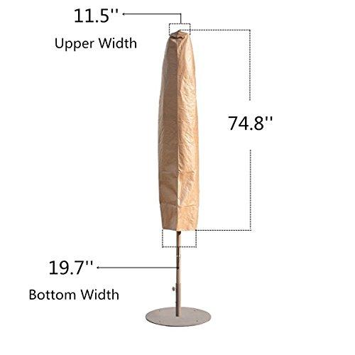Abba Patio Outdoor Market Patio Umbrella Cover for 7-11 Ft Umbrella, Water Resistant, Beige by Abba Patio (Image #5)