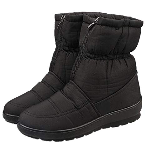 Winter New Snow Boots in The Boots Mother Warm Cotton Shoes Waterproof Boots(Black Lable 42/10 B(M) US Women)