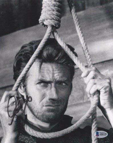 Clint Eastwood Autographed Signed Memorabilia Hang Em High 8x10 Photo Beckett Bas A06338