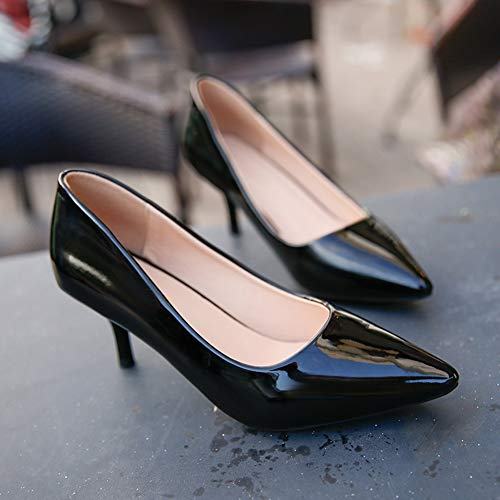 Da Punta 6 Sposa Scarpe Heels High 5 Bocca Donna Superficiale A qCZ4FnEwx