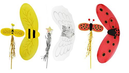 Jumbo Ladybug - Set of 3 Jumbo Costume Wings & Wands! 23.5