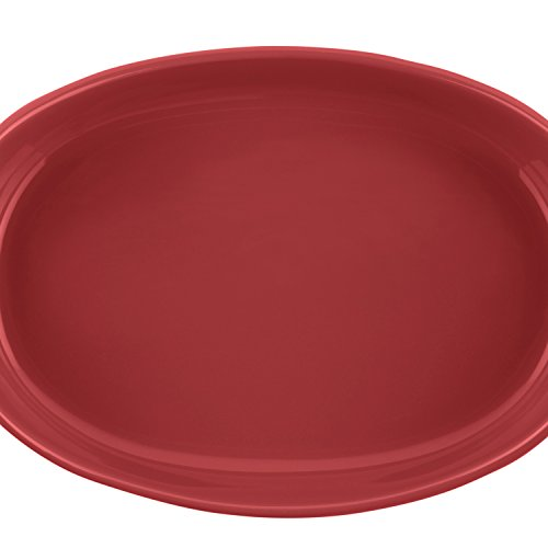 Rachael Ray Stoneware 1-1/4-Quart and 2-1/4-Quart Oval Bubble & Brown Baker Set, Red by Rachael Ray (Image #4)