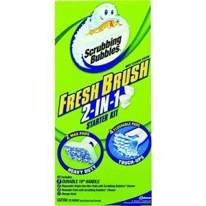 Scrubbing Bubbles Fresh Brush Starter Kit & Caddy (Flushable Toilet Cleaner compare prices)