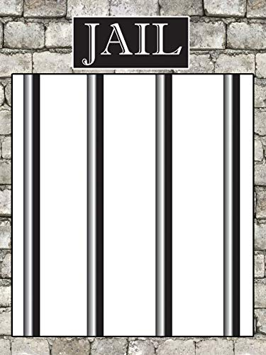 Jail Bars Party Photo Booth Frame Size 36x24, 48x36; Personalized Behind The Bars,Jail sign, Jail Sign, Wanted,Police party, Cops, Officer Party, Jail Poster Handmade Party Supply Jail Selfie -