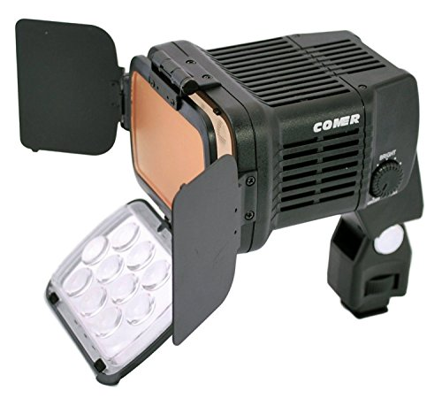 Comer 1800 On Camera LED Light High Powered Super Bright Lamp Camera Camcorder Video Light With Variable Color Temp (3200K-4500K) & Dimmable Brightness Control Knobs for Digital SLR Cameras by Comer