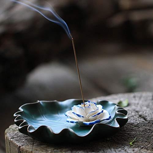 (Miubud Incense Holder - Lotus-Flower-Incense-Burner-Holder-Ash-Catcher (4.92 in))