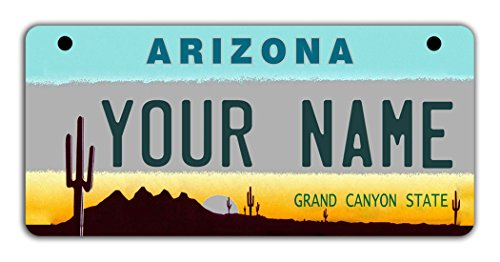 - BleuReign(TM Personalized Custom Name Arizona State Motorcycle Moped Golf Cart License Plate Auto Tag