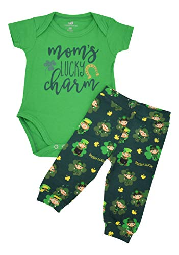 - Unique Baby Boys 1st St Patricks Day Moms Lucky Charm Layette Set (12 Months) Green