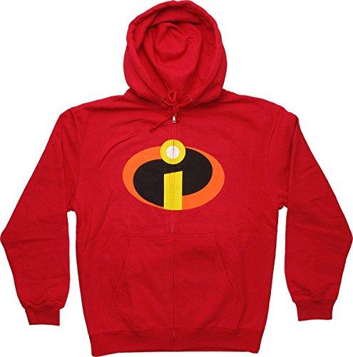 Incredibles Symbol Zip Hoodie Medium