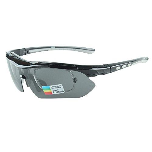 Interchangable Lens Sunglasses - Vitalite Bicycle Cycling Glasses with 5 Interchangable Lens for Outdoor Sports Running Driving