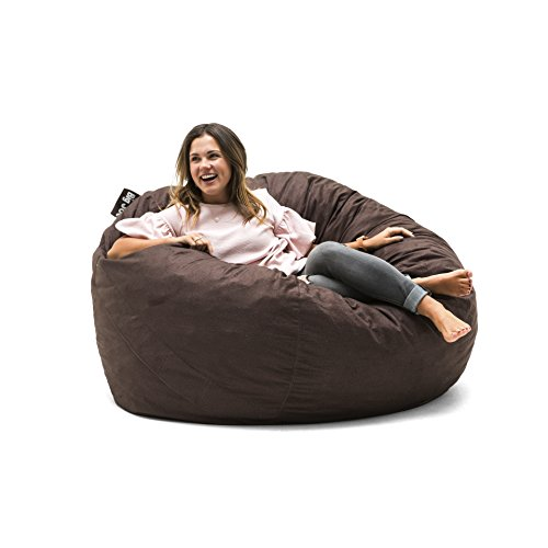 Big Joe 0010656 Fuf Foam Filled Bean Bag Chair, Large, Cocoa Lenox