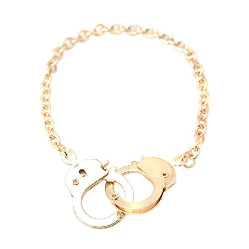 Spinningdaisy Gold Plated Handcuff Bracelet