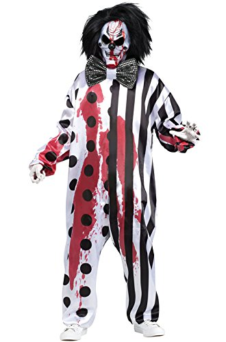 Killer Clown Costumes For Men (Bleeding Killer Clown Adult Costume)