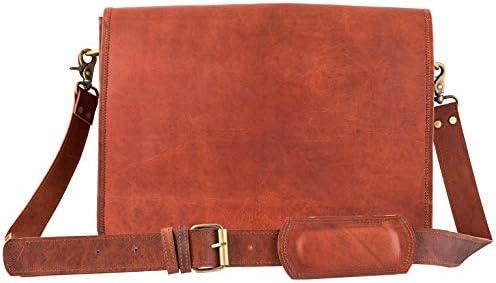 Leather Vintage Crossbody Messenger Briefcase