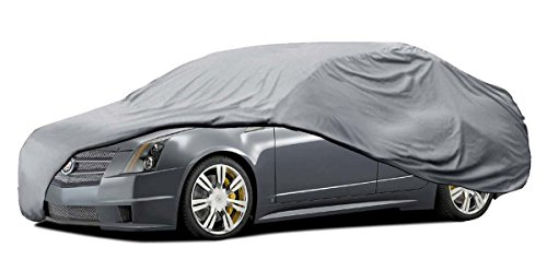 Car Cover for Cadillac CTS 4 Layers Outdoor Waterproof Sun Dust Proof Breathable ()