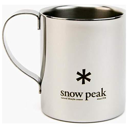 Snow Peak Men's Double Wall 240 Mug, Stainless Steel, One Size ()