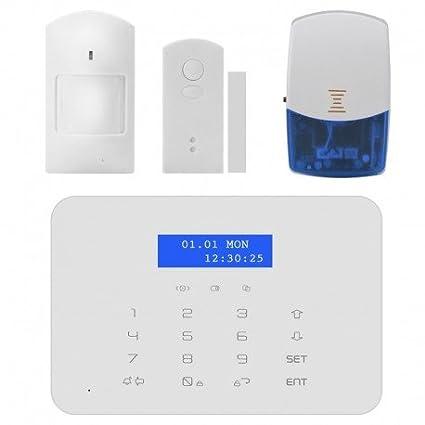 Seguridad inalámbrica GSM + PSTN sistema - detección de movimiento PIR, puerta Sensor, alarma