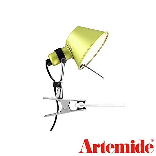 (Artemide Tolomeo Micro Pinza Yellow Table Wall Lamp Design De Lucchi Fassina)