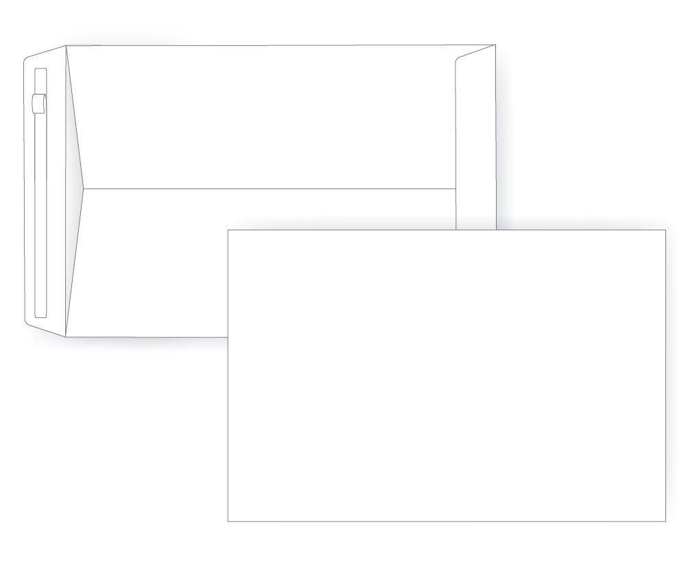 6 X 9 Self Seal Strip Catalog - 28# White - Open End (6 x 9) - Jumbo Envelope Series (Box of 1000)