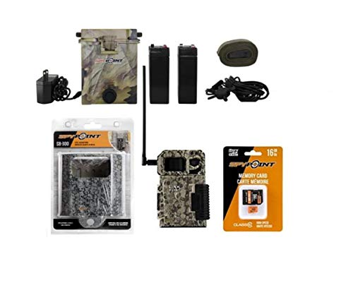 Spypoint Link Micro (AT&T) 4GB Camera with Spypoint Camo Security Lock Box, 6v/12v Battery Kit, and 16 GB SD Memory Card Bundle