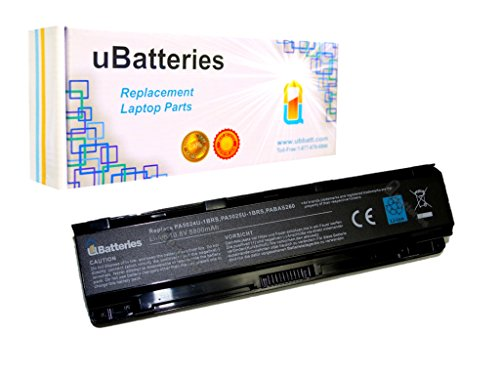 UBatteries Compatible 96Whr Extended Battery Replacement For Toshiba Satellite PA5026U-1BRS PA5027U-1BRS PA5110U-1BRS PABAS259 PABAS260 PABAS261 PABAS262 PABAS263 PAS5023U1-BRS - 12 Cell, 8800mAh