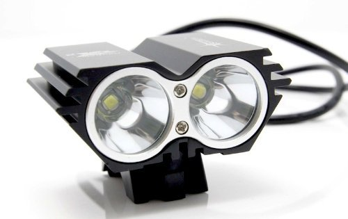 5000 Lumen 2x CREE XML U2 LED Cycling Bicycle Bike Light Lamp HeadLight Headlamp with Batteries Pack and Charger