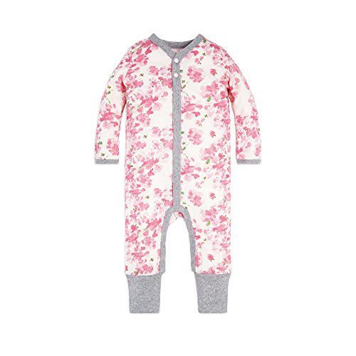 Boys Dressing Up Outfit (Burt's Bees Baby Baby Girl's Romper Jumpsuit, 100% Organic Cotton One-Piece Coverall, Blossom Peony,)