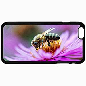 Personalized Protective Hardshell Back Hardcover For iPhone 6 Plus, Bee Design In Black Case Color