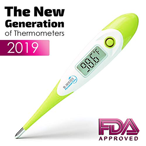 [2019] Best Digital Medical Thermometer Designed for Babies with Flexible tip by B. WEISS (Baby Adult and Toddler Termometro) Clinical Professional Oral Rect ...