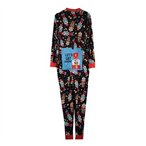Pijamas de Navidad para Familia, Moda Manga Larga Mono Mameluco con Capucha One-Piece Conjunto de Pijamas Ropa de Dormir para Mamá Papá Niño: Amazon.es: ...