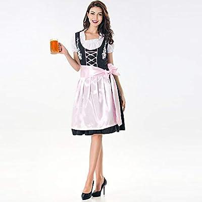 55d24f9ab3b07c Zolimx Frauen Dirndl Trachtenkleid Oktoberfest Kostüm Damen ...