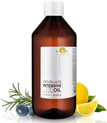 Aceite Anti Celulitis 500 ml Con Aceites Esenciales Triple acción: drenante, quema grasa y reafirmante