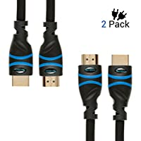 BlueRigger High Speed HDMI cable with Ethernet 10 Feet (2-Pack)- Supports 3D and Audio Return [Latest Version]