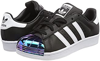 Adidas Women's Superstar Metal Toe Low Top Sneakers, (Core