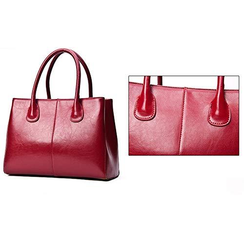Cerata In Cera Moda Borsa Kuqiwu Con Rosso Rosso Da Pelle Donna colore Y4f6qxS