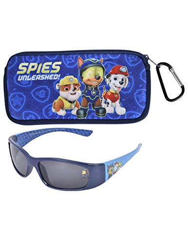 KIDS SUNGLASSES - BOYS 100% UV WITH SOFT POUCH, SPIDERMAN, PAW PATROL, AVENGERS (Paw Sunglasses Patrol)