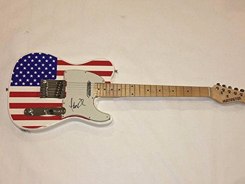 Adam Duritz Signed Usa Flag Electric Guitar The Counting Crows Legend Coa - JSA Certified